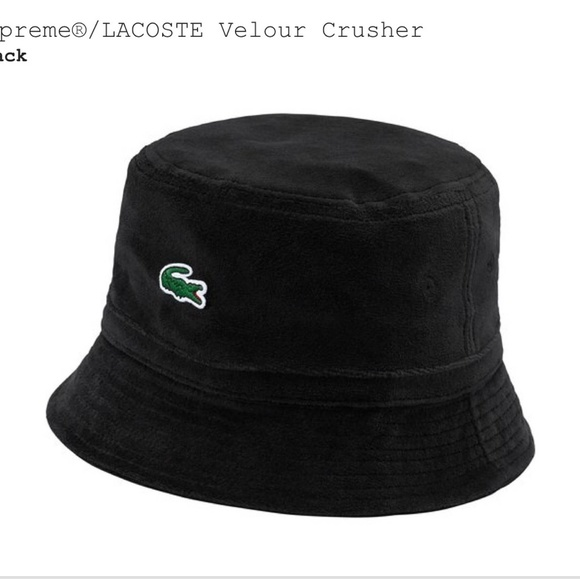 cee0195f31db Supreme lacoste velour crusher hat